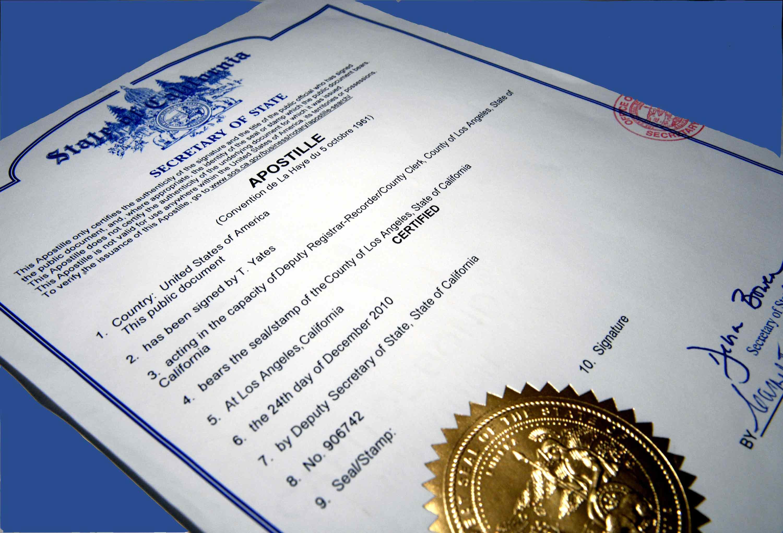 Порядок проставлення апостиля на офіційних документах, що видаються органами юстиції та судами, а також на документах, що оформляються нотаріусами України